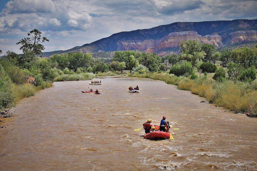 Rio Grande river rafting. Photo credit- New Mexico River Adventures