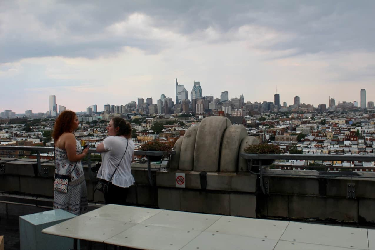 Philly skyline from Bok Bar just before the rain came. Philly
