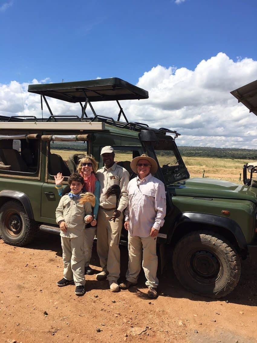 Our jeep for the Tarangire National Park game drive in Tanzania safari.