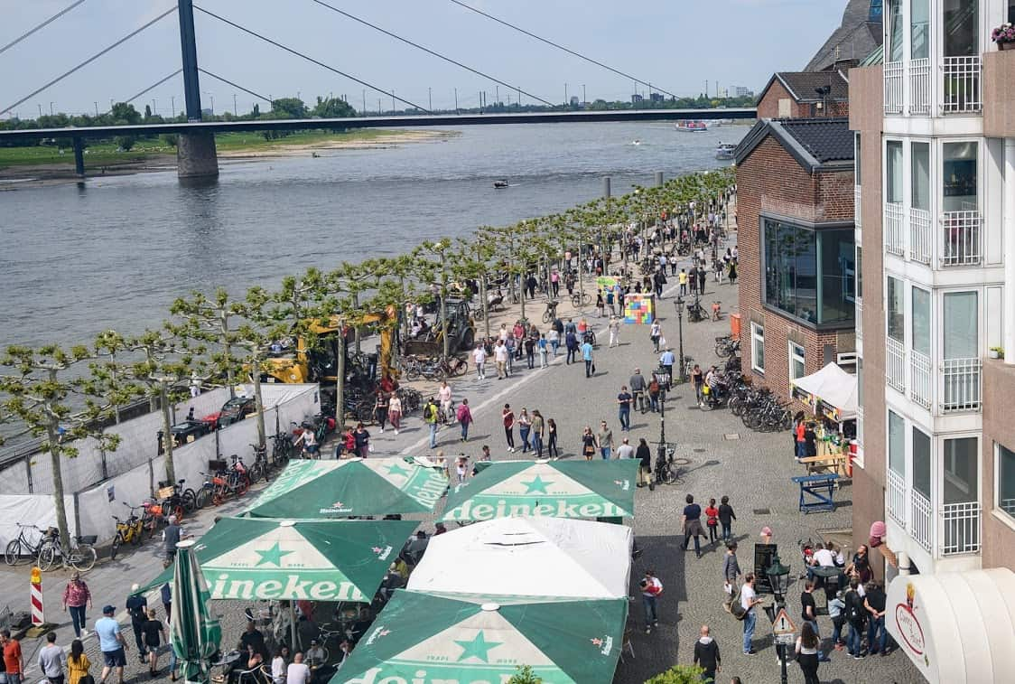 The Rhine River waterfront. Donnie Sexton photo.