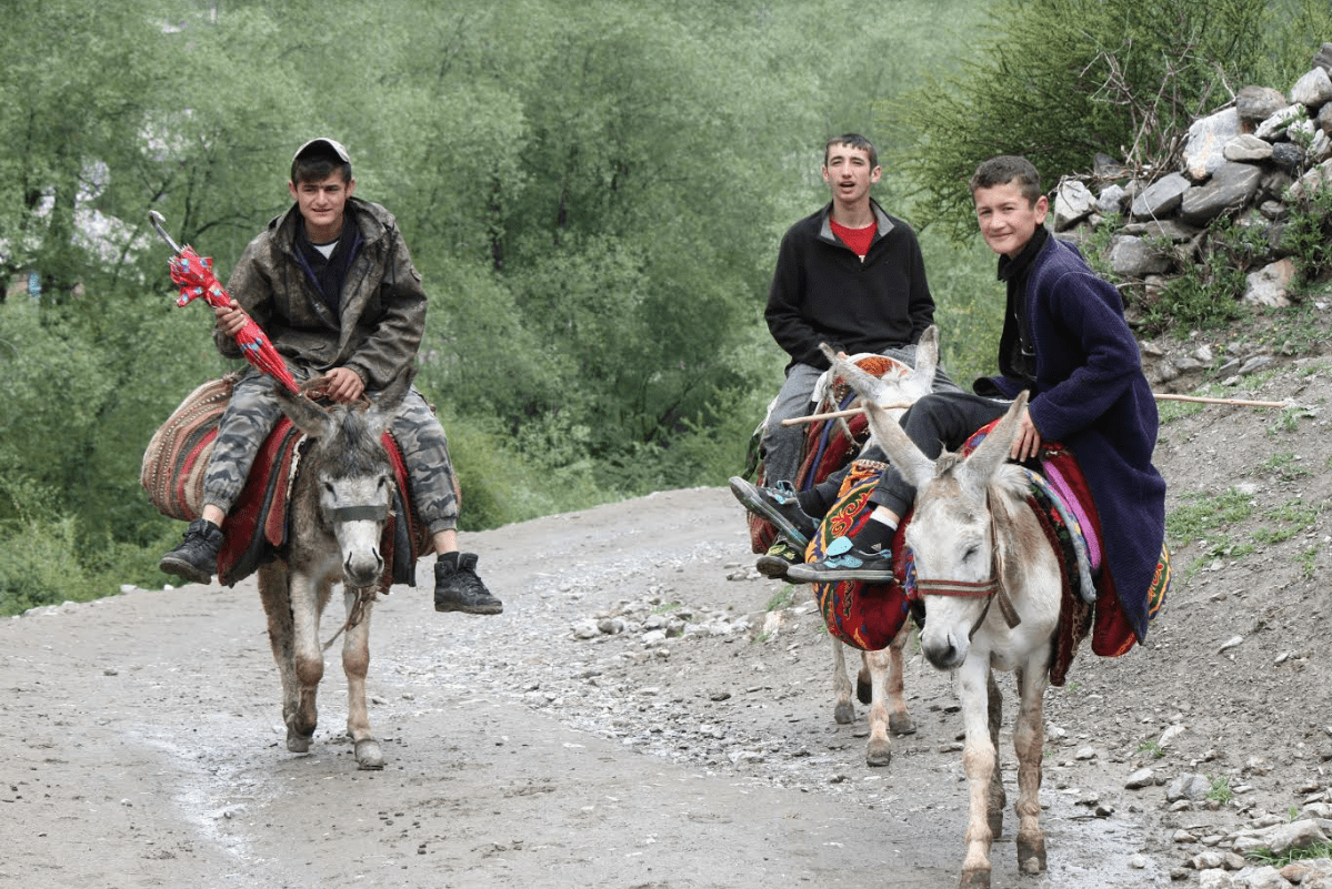 Artuch village Tajikistan has about 2,500 inhabitants spread out over a kilometer.