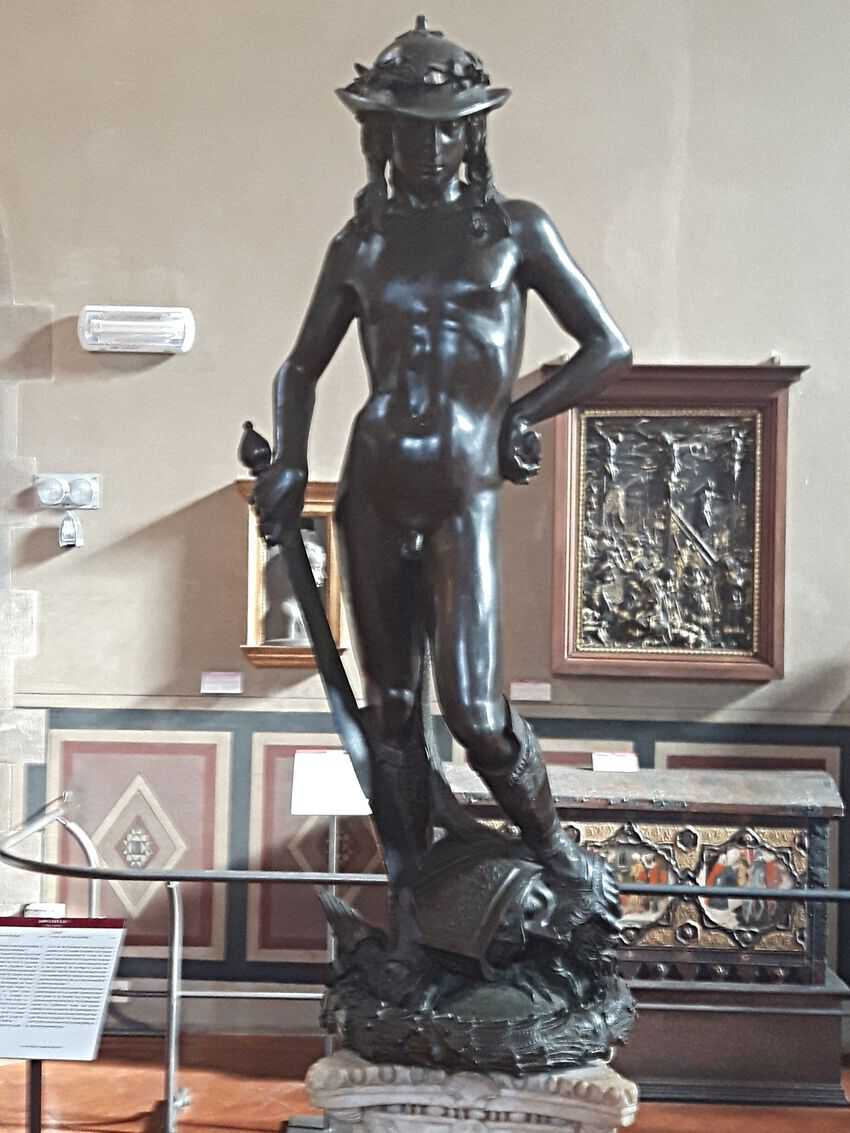 Florence Museums: Donatello's David at the Bargello Museum, Florence Italy - photo Debra Smith