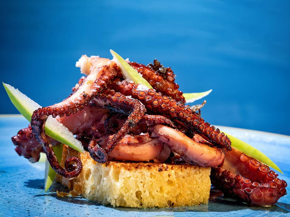 Octopus at Cap Roig Brasserie