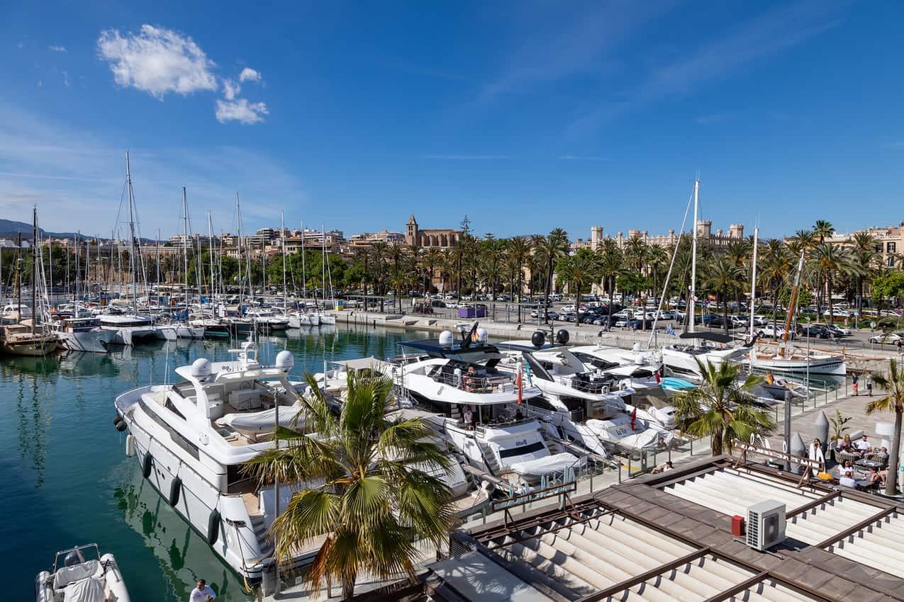 The harbor in Palma, the capital of the island of Mallorca, Spain.