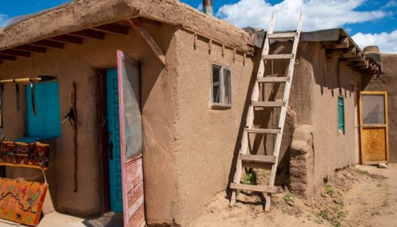 Taos Pueblo, 2000 years of history in New Mexico.