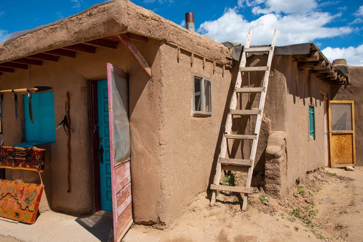 Typical dwelling at Taos Pueblo.