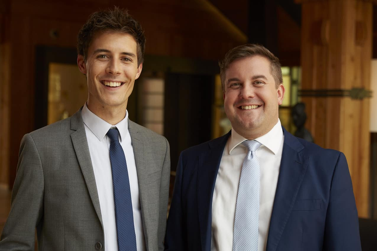 Patrick Planckensteiner & Manuel Kaneppele, managers of the ADLER Spa Resorts Dolomiti