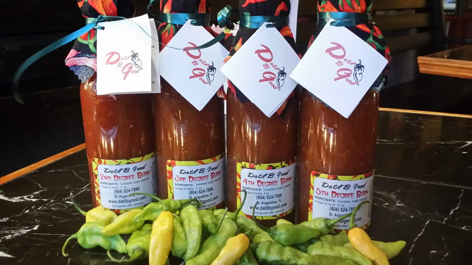 Datil Condiments from Datil-b-Good Sauces