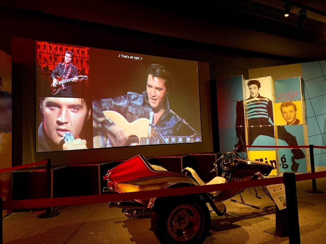 Elvis toys in the Rock and Roll Hall of Fame in Cleveland, Ohio.