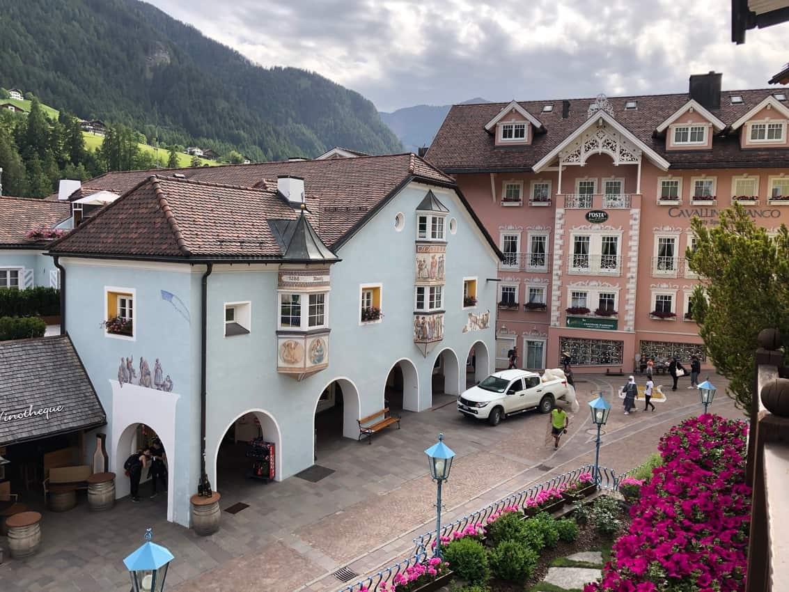 The village of Ortisei, Italy.