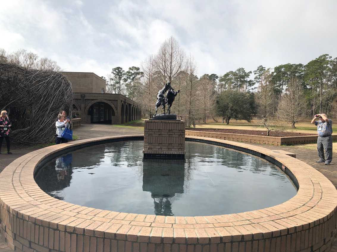 Much use is made of water and fountains at the Brookgreen Gardens.