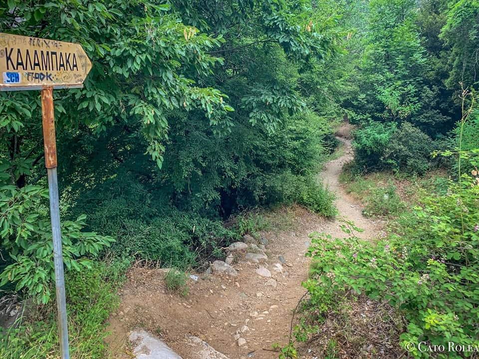 Way to Kalambaka from Holy Trinity Monastery
