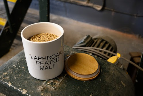 The distillerie's secret recipe. Peated malt gives Laphroaig and many Islay whiskies their smokey quality.