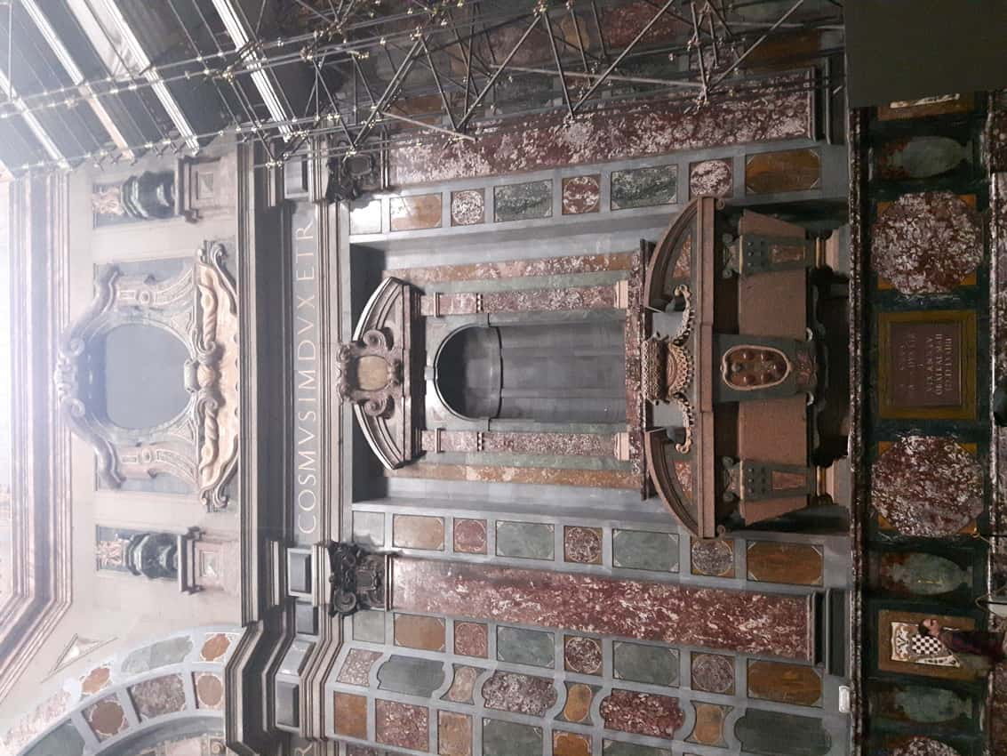 The Chapel of the Princes, one of the Medici Chapels, is covered in inlays of semi-precious stones, Florence Italy