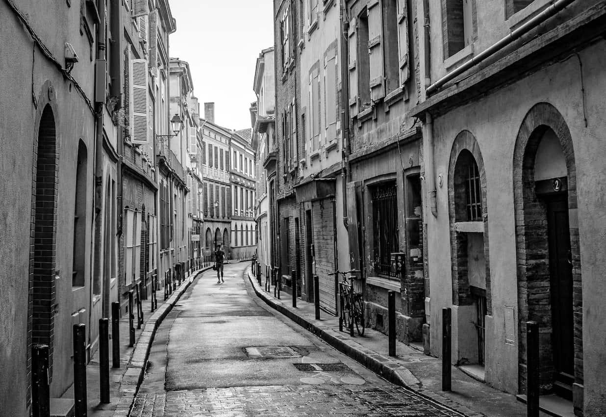 A back street in Toulouse, France. Sarah Heath photos.