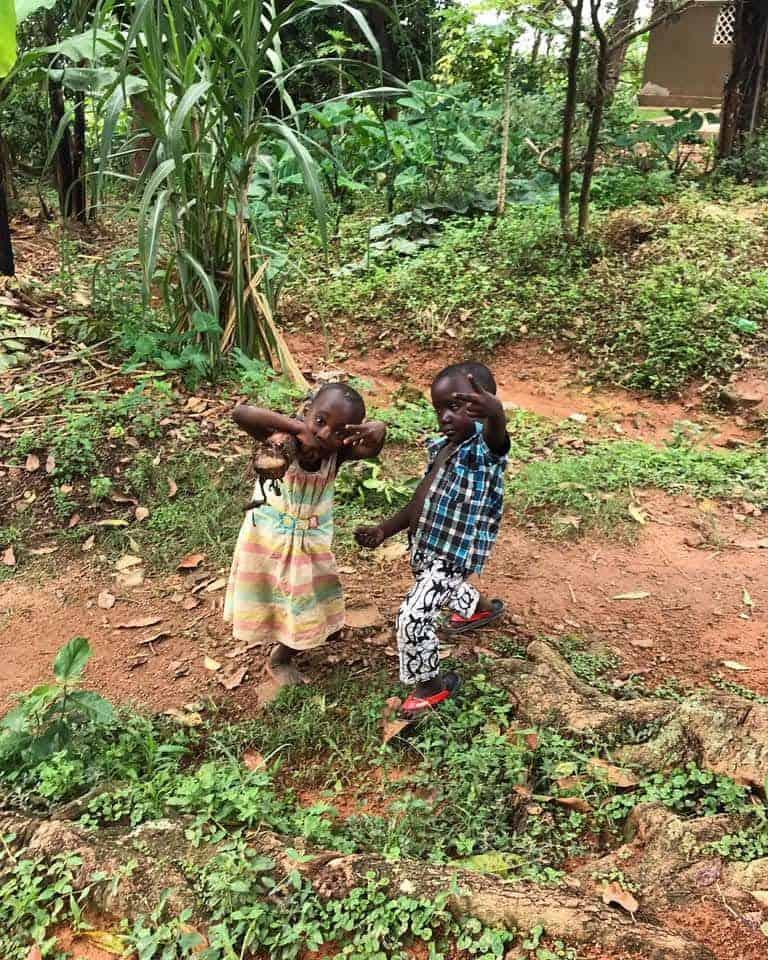 Kids at play in Uganda.