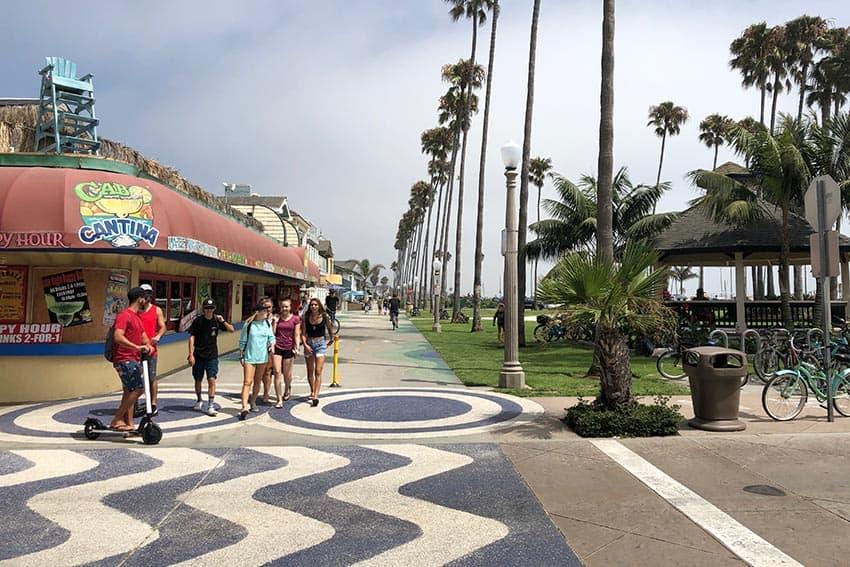 The trip started in Balboa Island, Newport Beach California.