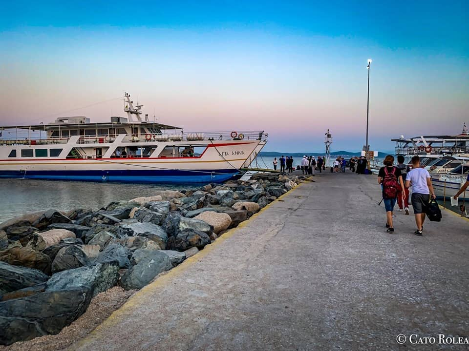 Boarding the Ferryboat to Mount Athos, Greece.