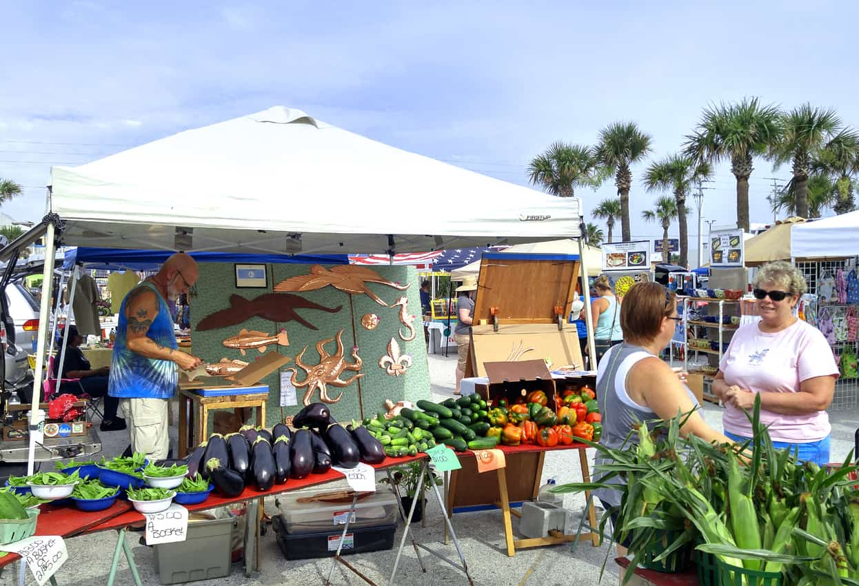 A farmer's market pre-pandemic, in St Augustine, FL. Mary Charlebois photo.