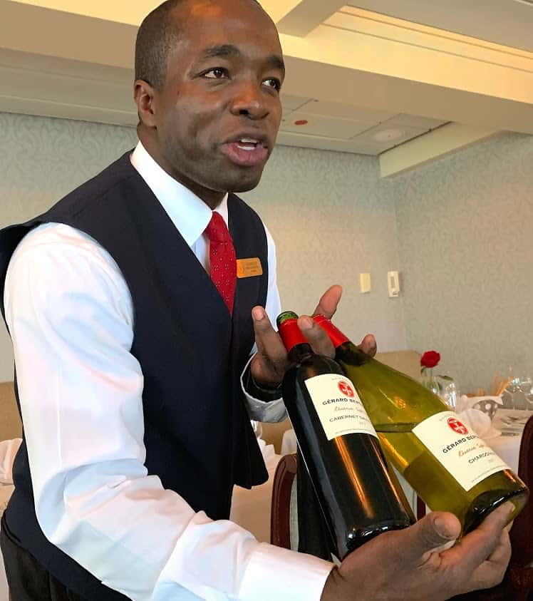 Wines for dinner or before on the Victory I cruise ship on the Great Lakes.