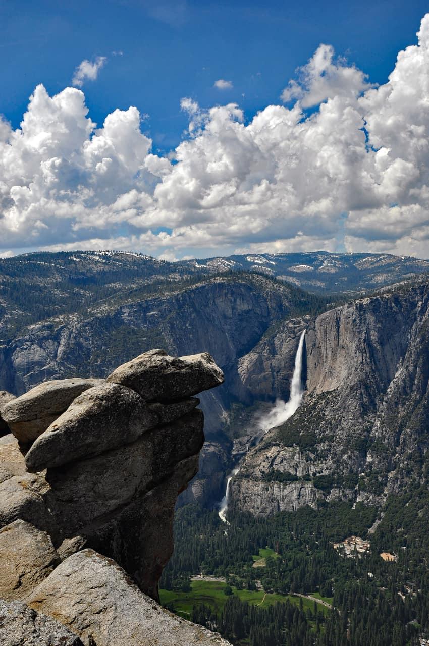 Glacier Point overlooks Yosemite Valley from 7,214 feet.
