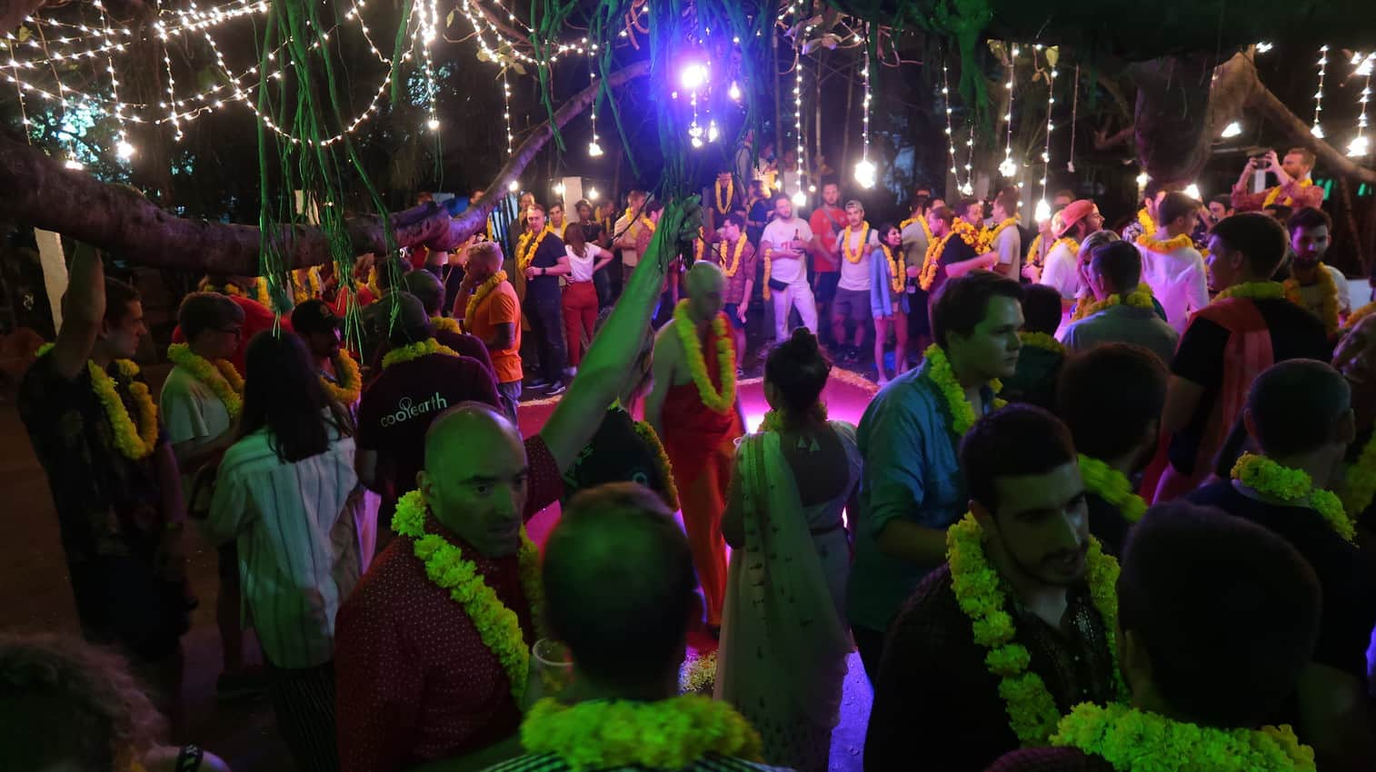 Participants let loose after a crazy two weeks at the Rickshaw Run after-party