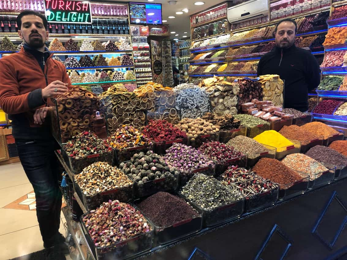 Spices in the Grand Bazaar in Istanbul, Turkey.