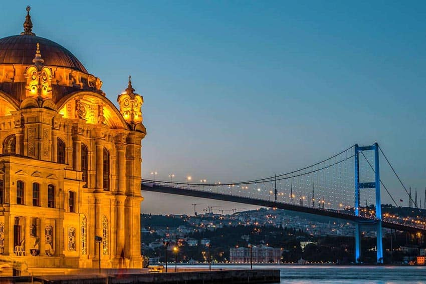 View of the Golden Horn in Istanbul, Turkey