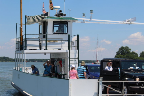 Oxford Bellevue Ferry. Delmarva Peninsula