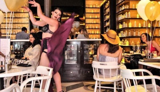 Bringing burlesque back to New Orleans with style at SoBou boozy brunch. Photos: Christopher Ludgate