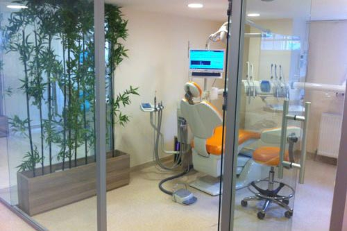 Turkish dentist office with all of the same modern equipment found in the West.