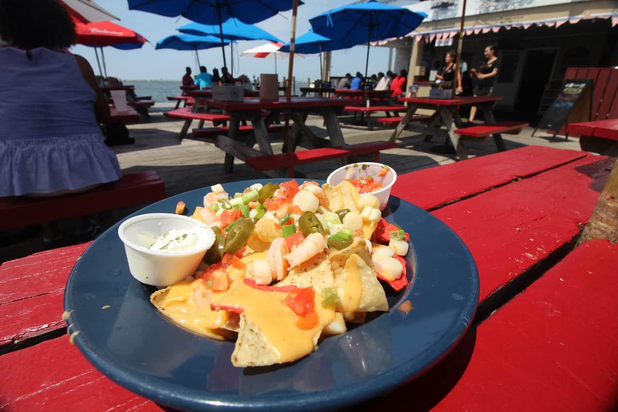 Waterman's Crab House seafood nachos.. Delmarva Peninsula