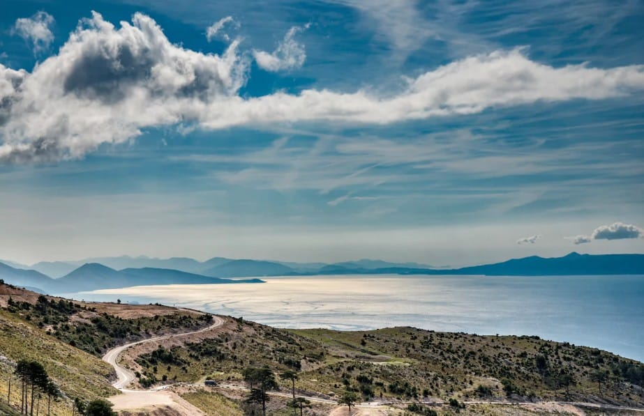 Dhermi coast in Albania.
