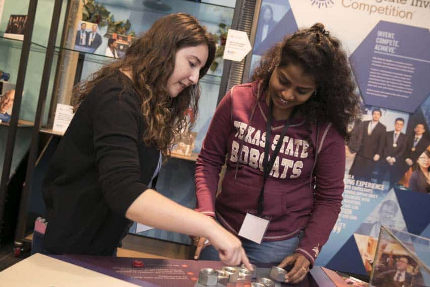 College students learning at the museum