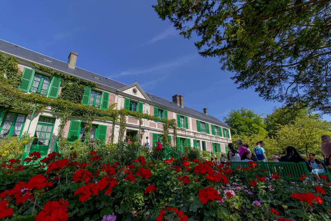 The front of Monet's House in Giverny.