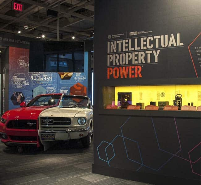 Half and half mustang at the Intellectual Property Power exhibit