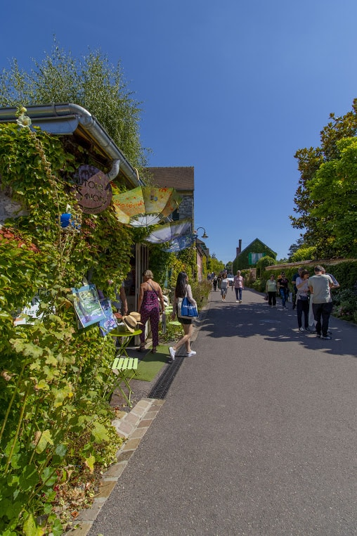 """1. The Main Street of Giverny, """"Rue of Claude Monet"""", heading to the Foundation."""