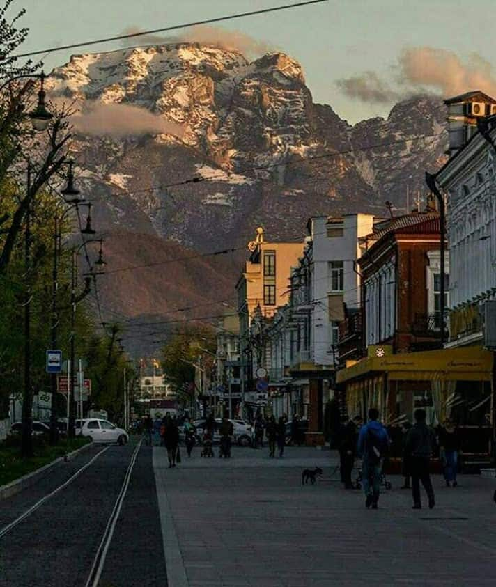 Vladikazkaz, the capital of North Ossetia, Prospekt Mira