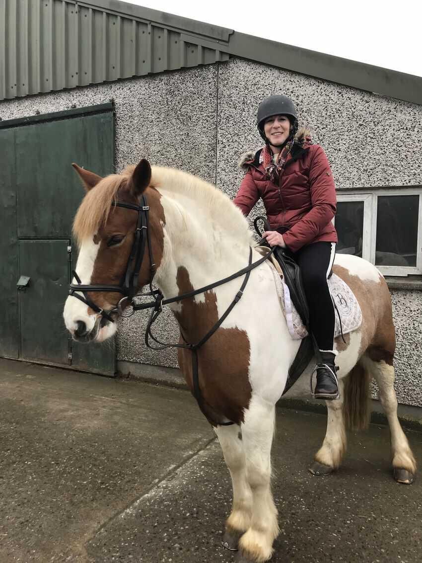 Horseback riding at Abbeyfields in Ireland.