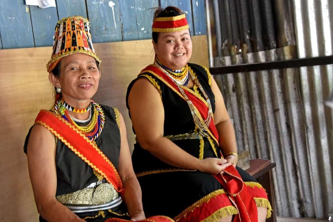 Bidayuh dancers in Kuching Sarawak Borneo Malaysia