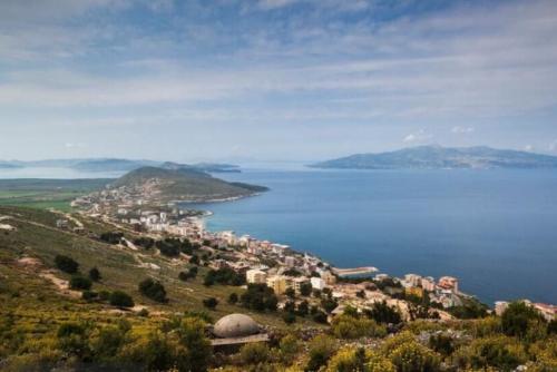 An island off the coast of Dhermi, Albania.