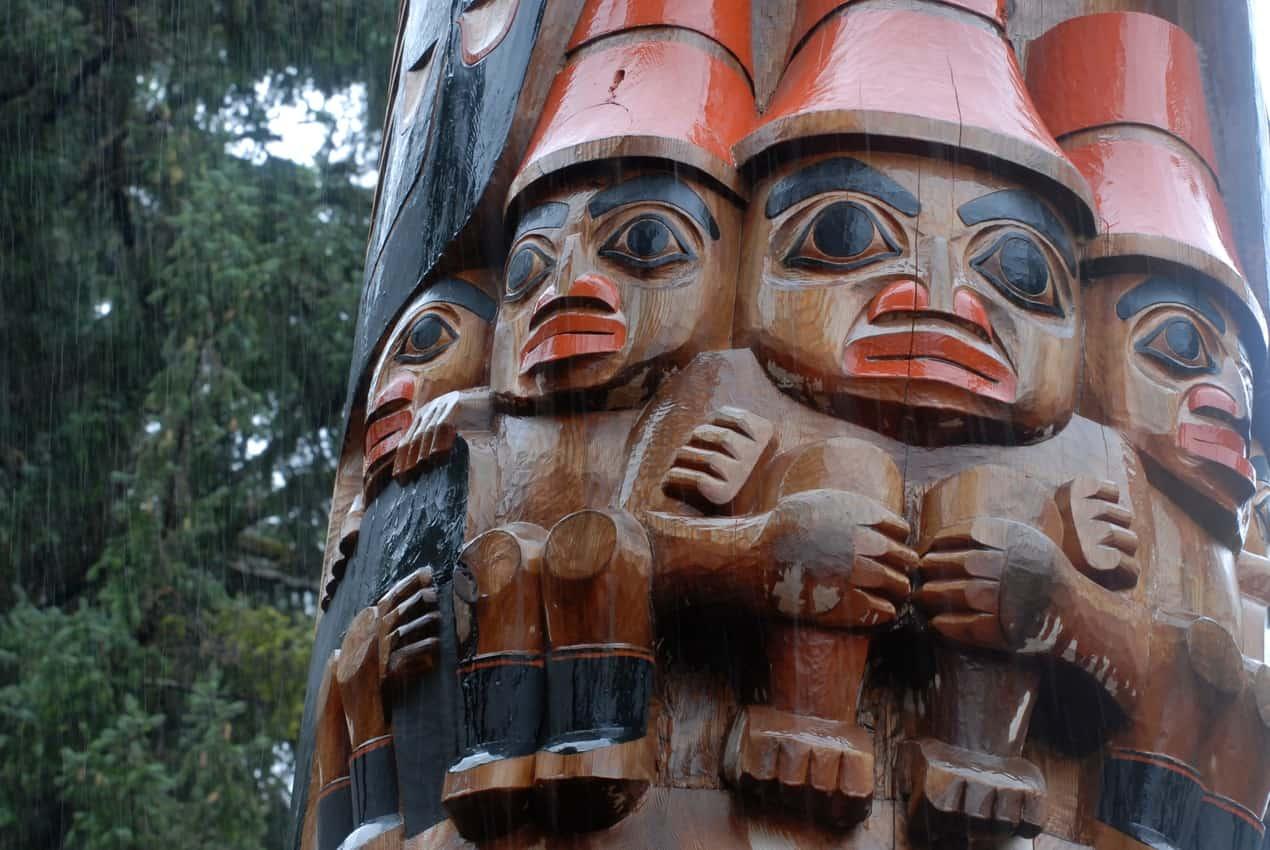 Five Good People, A Haida wood statue