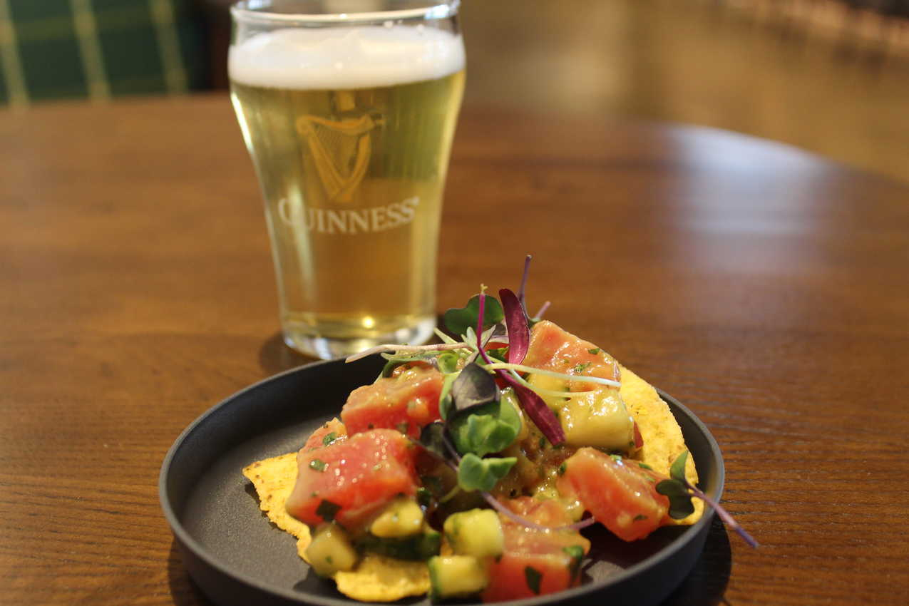 Guinness and poke is a delicious pair. Guinness Open Gate