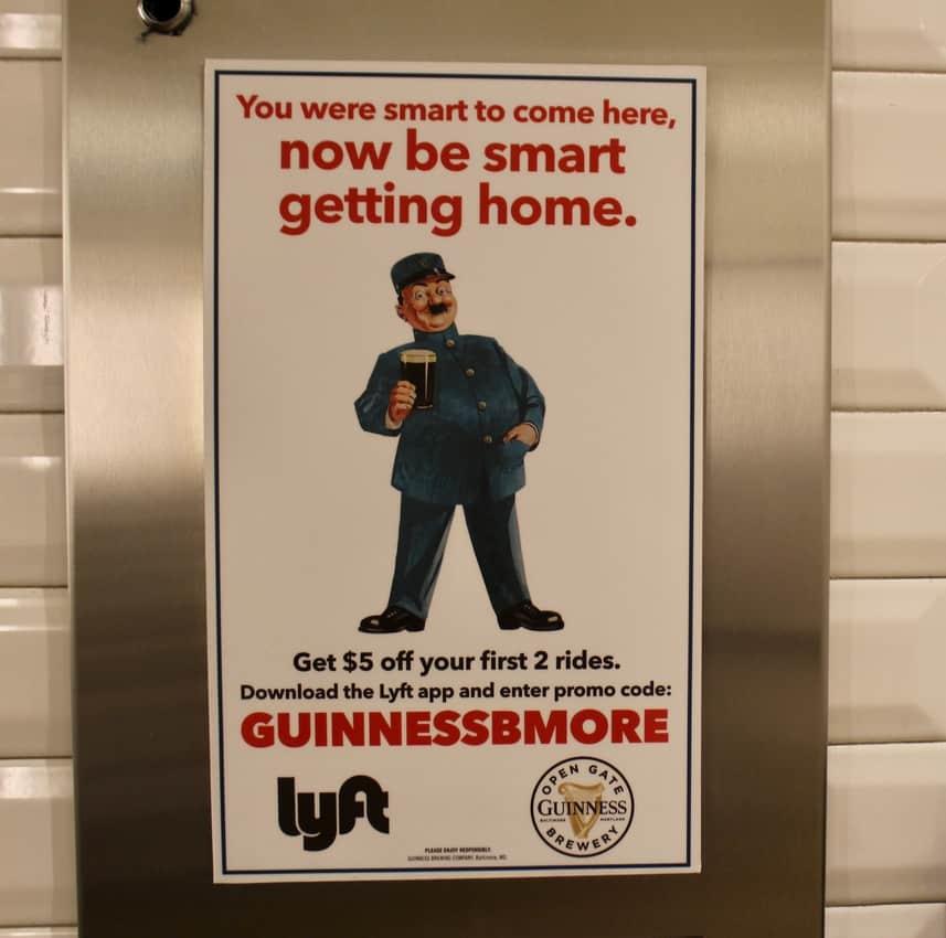 Guinness get home safe poster. Guinness Open Gate