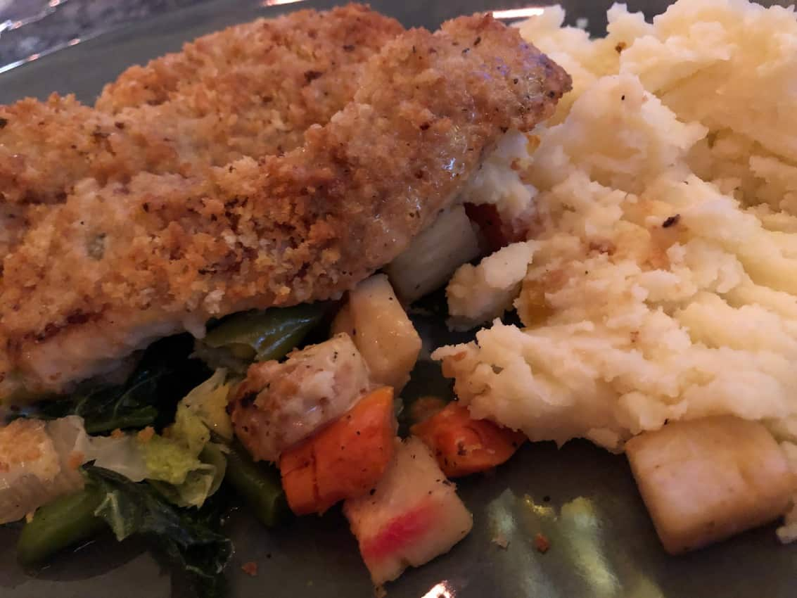 Panko crusted local cod at the St Johns Fish Exchange.
