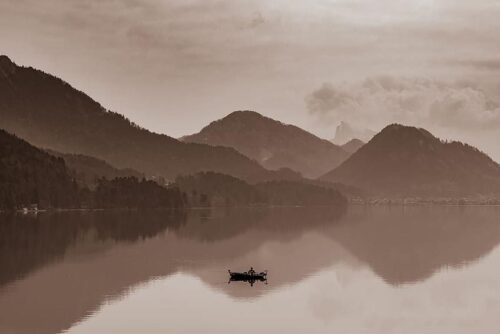 The view of the lake from Hotel Schloss Fuschl in Salzkammergut. Paul Shoul photos.