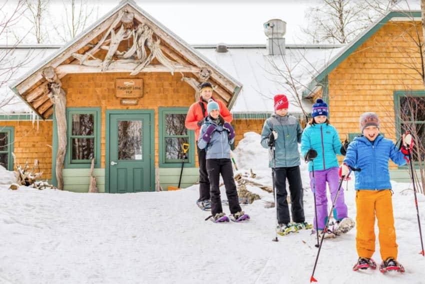 A snowshoeing adventure in Maine. Jamie Walter photo.