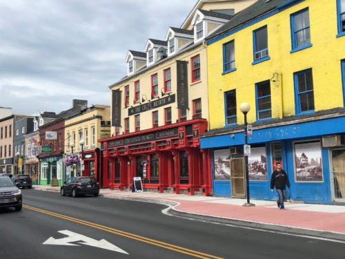 The houses in St John's were painted using leftover paint from fishing boats, hence the wild variety of colors you'll see all over the city.