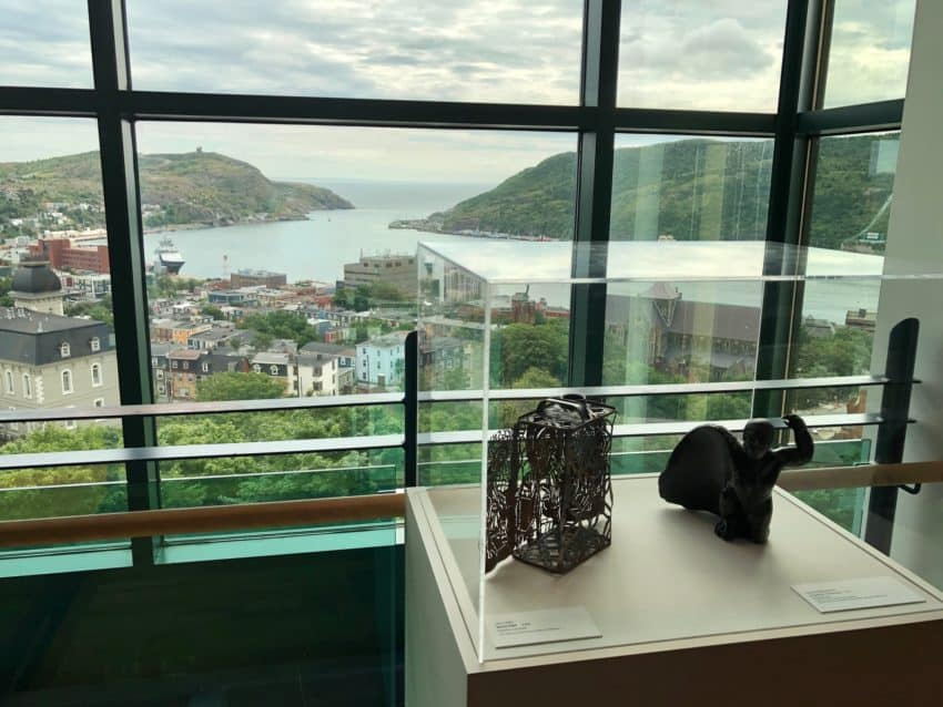 The view from the top floor of The Rooms, exciting history and art museum dedicated to Newfoundland and Labrador, on top of a hill in St John's.