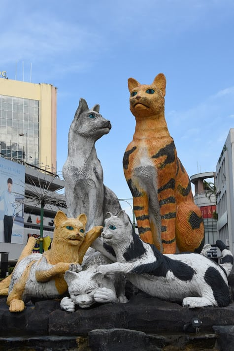 Kuching is the cat city.